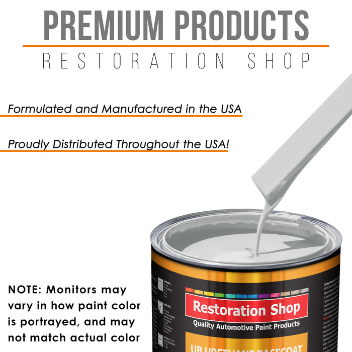 Classic White - Urethane Basecoat with Clearcoat Auto Paint - Complete Medium Quart Paint Kit - Professional High Gloss Automotive, Car, Truck Coating