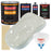 Arctic White - Urethane Basecoat with Clearcoat Auto Paint - Complete Medium Gallon Paint Kit - Professional High Gloss Automotive, Car, Truck Coating