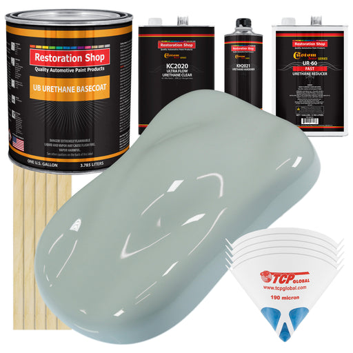 Fleet White - Urethane Basecoat with Premium Clearcoat Auto Paint - Complete Fast Gallon Paint Kit - Professional High Gloss Automotive Coating