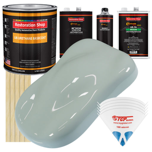 Fleet White - Urethane Basecoat with Premium Clearcoat Auto Paint - Complete Medium Gallon Paint Kit - Professional High Gloss Automotive Coating