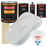 Championship White - Urethane Basecoat with Premium Clearcoat Auto Paint - Complete Fast Gallon Paint Kit - Professional High Gloss Automotive Coating