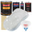 Championship White - Urethane Basecoat with Clearcoat Auto Paint - Complete Fast Gallon Paint Kit - Professional High Gloss Automotive, Car, Truck Coating