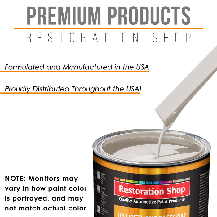 Oxford White - Urethane Basecoat with Clearcoat Auto Paint - Complete Slow Gallon Paint Kit - Professional High Gloss Automotive, Car, Truck Coating