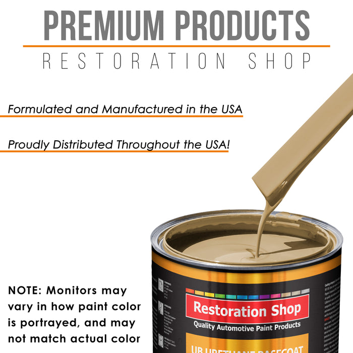 Shoreline Beige - Urethane Basecoat with Clearcoat Auto Paint - Complete Medium Gallon Paint Kit - Professional High Gloss Automotive, Car, Truck Coating
