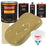 Buckskin Tan - Urethane Basecoat with Premium Clearcoat Auto Paint - Complete Medium Gallon Paint Kit - Professional High Gloss Automotive Coating