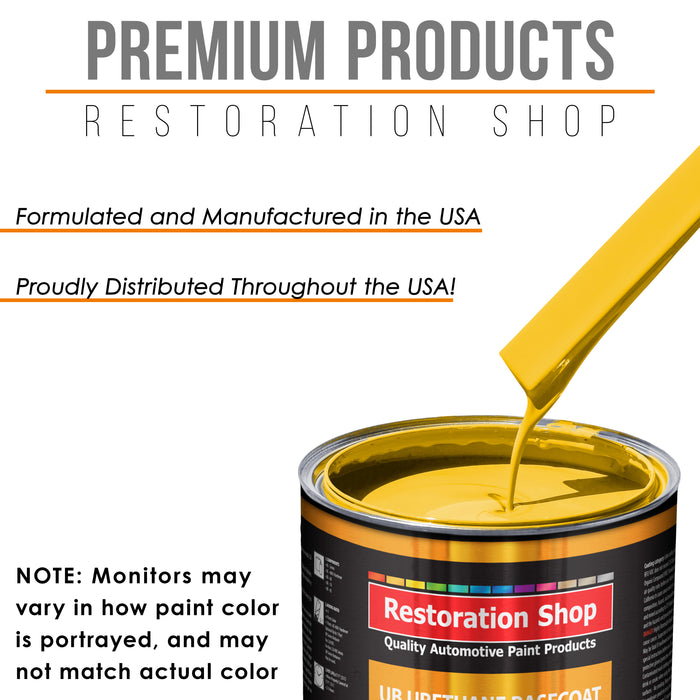Sunshine Yellow - Urethane Basecoat with Premium Clearcoat Auto Paint - Complete Fast Gallon Paint Kit - Professional High Gloss Automotive Coating