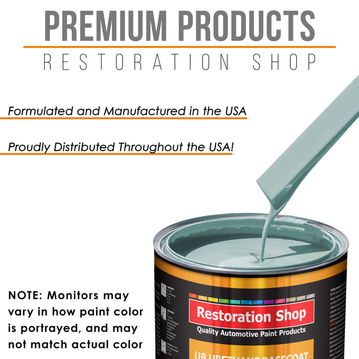Diamond Blue - Urethane Basecoat with Premium Clearcoat Auto Paint - Complete Medium Quart Paint Kit - Professional High Gloss Automotive Coating