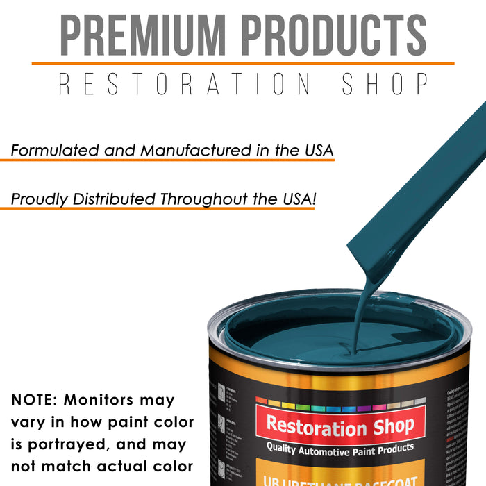 Transport Blue - Urethane Basecoat with Clearcoat Auto Paint - Complete Medium Quart Paint Kit - Professional High Gloss Automotive, Car, Truck Coating