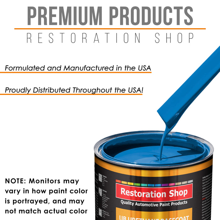 Speed Blue - Urethane Basecoat with Premium Clearcoat Auto Paint - Complete Medium Quart Paint Kit - Professional High Gloss Automotive Coating