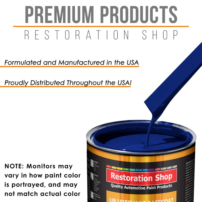 Marine Blue - Urethane Basecoat with Clearcoat Auto Paint - Complete Slow Gallon Paint Kit - Professional High Gloss Automotive, Car, Truck Coating