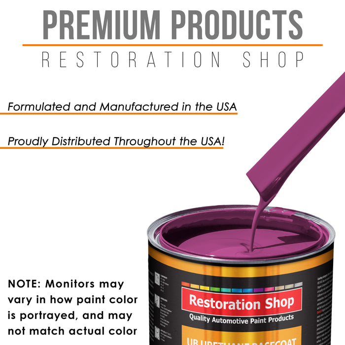 Magenta - Urethane Basecoat Auto Paint - Gallon Paint Color Only - Professional High Gloss Automotive, Car, Truck Coating