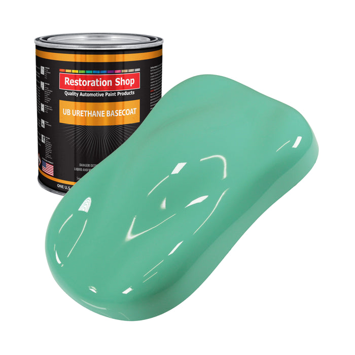 Light Aqua - Urethane Basecoat Auto Paint - Gallon Paint Color Only - Professional High Gloss Automotive, Car, Truck Coating