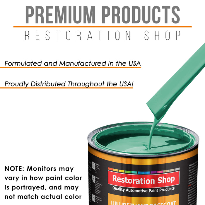 Light Aqua - Urethane Basecoat Auto Paint - Quart Paint Color Only - Professional High Gloss Automotive, Car, Truck Coating
