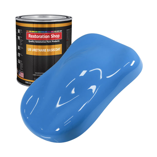 Grabber Blue - Urethane Basecoat Auto Paint - Gallon Paint Color Only - Professional High Gloss Automotive, Car, Truck Coating