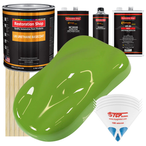 Sublime Green - Urethane Basecoat with Premium Clearcoat Auto Paint - Complete Fast Gallon Paint Kit - Professional High Gloss Automotive Coating