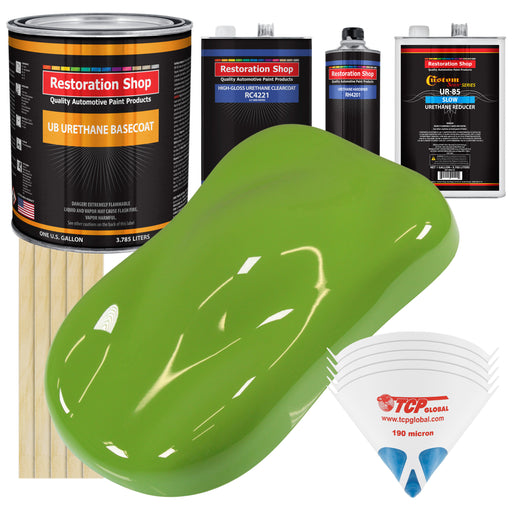 Sublime Green - Urethane Basecoat with Clearcoat Auto Paint - Complete Slow Gallon Paint Kit - Professional High Gloss Automotive, Car, Truck Coating