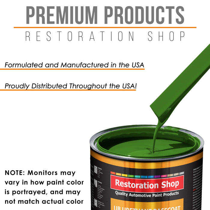 Deere Green - Urethane Basecoat with Premium Clearcoat Auto Paint - Complete Medium Quart Paint Kit - Professional High Gloss Automotive Coating