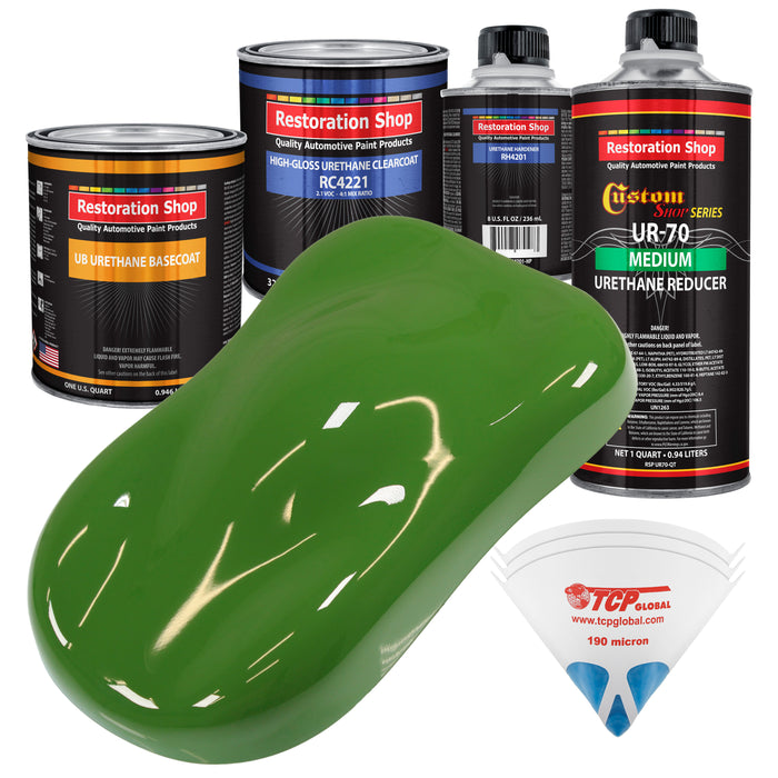 Deere Green - Urethane Basecoat with Clearcoat Auto Paint - Complete Medium Quart Paint Kit - Professional High Gloss Automotive, Car, Truck Coating