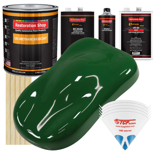 Speed Green - Urethane Basecoat with Premium Clearcoat Auto Paint - Complete Fast Gallon Paint Kit - Professional High Gloss Automotive Coating