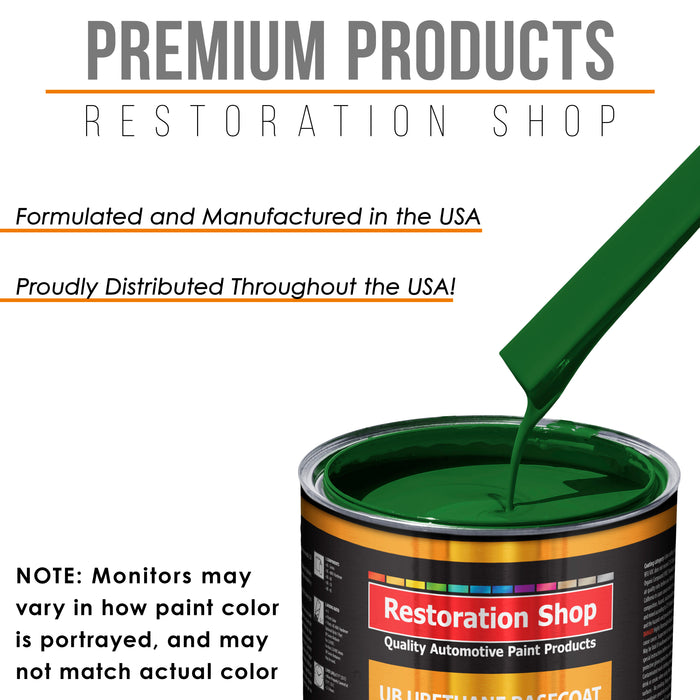Emerald Green - Urethane Basecoat with Clearcoat Auto Paint - Complete Medium Gallon Paint Kit - Professional High Gloss Automotive, Car, Truck Coating