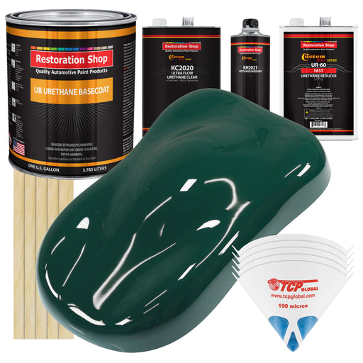 Woodland Green - Urethane Basecoat with Premium Clearcoat Auto Paint - Complete Fast Gallon Paint Kit - Professional High Gloss Automotive Coating
