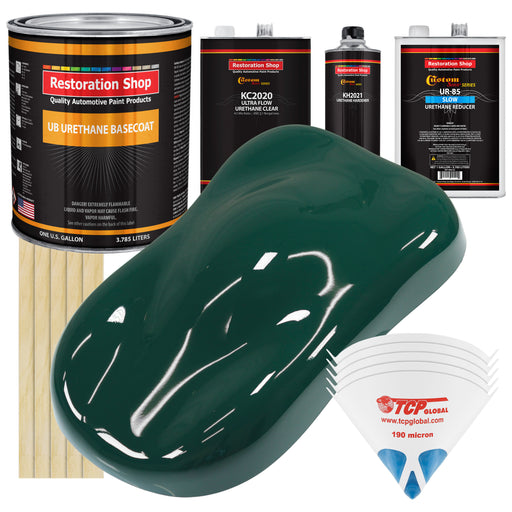 Woodland Green - Urethane Basecoat with Premium Clearcoat Auto Paint - Complete Slow Gallon Paint Kit - Professional High Gloss Automotive Coating