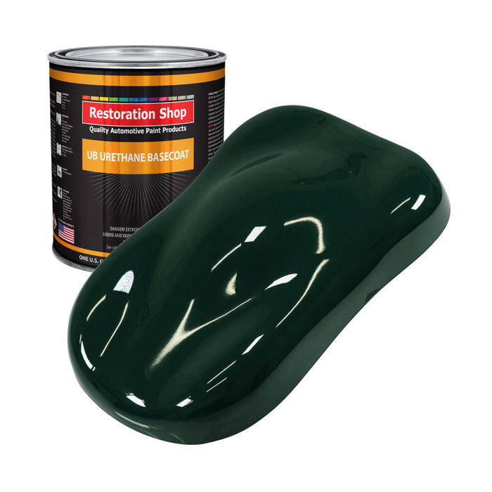 British Racing Green - Urethane Basecoat Auto Paint - Gallon Paint Color Only - Professional High Gloss Automotive, Car, Truck Coating