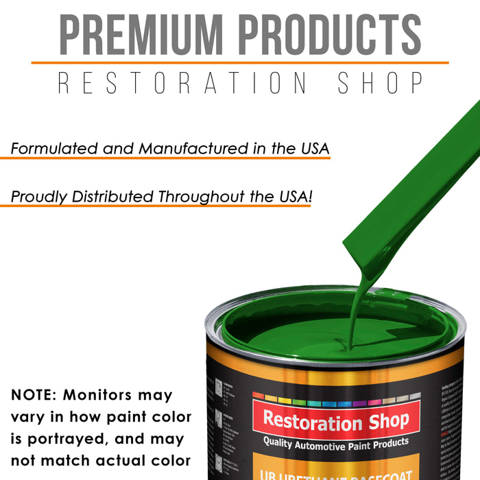 Vibrant Lime Green - Urethane Basecoat with Premium Clearcoat Auto Paint - Complete Fast Gallon Paint Kit - Professional High Gloss Automotive Coating
