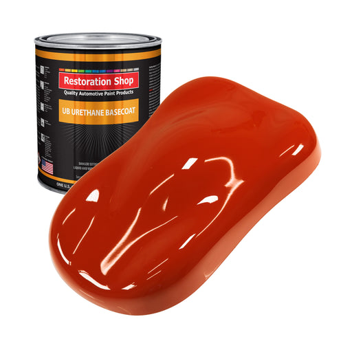 Hot Rod Red - Urethane Basecoat Auto Paint - Gallon Paint Color Only - Professional High Gloss Automotive, Car, Truck Coating