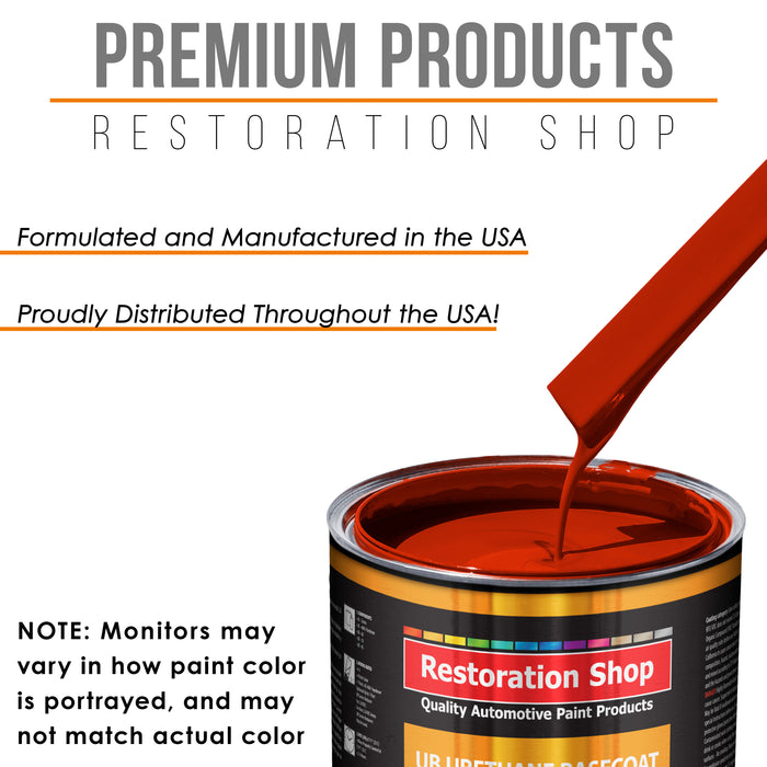 Hot Rod Red - Urethane Basecoat with Clearcoat Auto Paint - Complete Medium Quart Paint Kit - Professional High Gloss Automotive, Car, Truck Coating