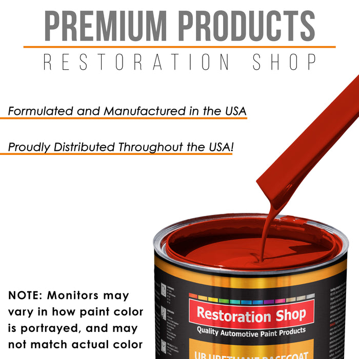 Graphic Red - Urethane Basecoat with Premium Clearcoat Auto Paint - Complete Medium Quart Paint Kit - Professional High Gloss Automotive Coating