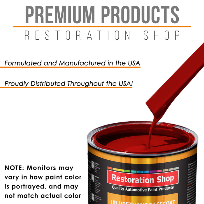 Candy Apple Red - Urethane Basecoat with Clearcoat Auto Paint - Complete Medium Quart Paint Kit - Professional High Gloss Automotive, Car, Truck Coating