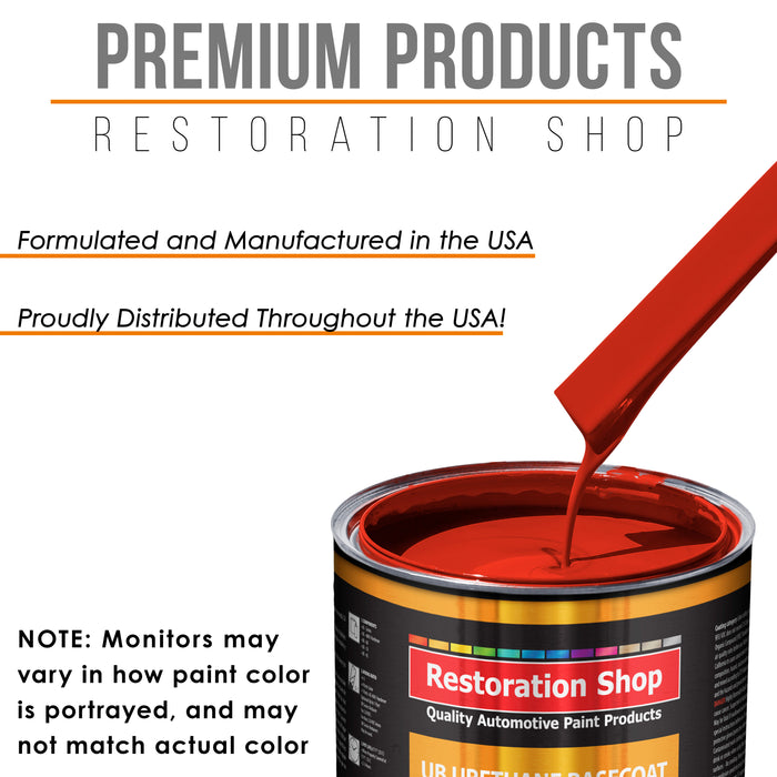 Reptile Red - Urethane Basecoat with Premium Clearcoat Auto Paint - Complete Medium Quart Paint Kit - Professional High Gloss Automotive Coating