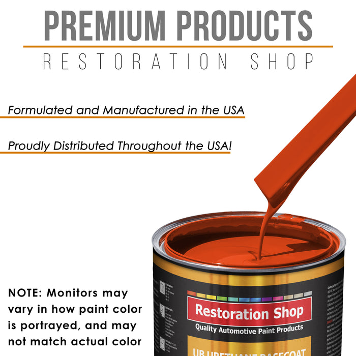 Speed Orange - Urethane Basecoat Auto Paint - Quart Paint Color Only - Professional High Gloss Automotive, Car, Truck Coating