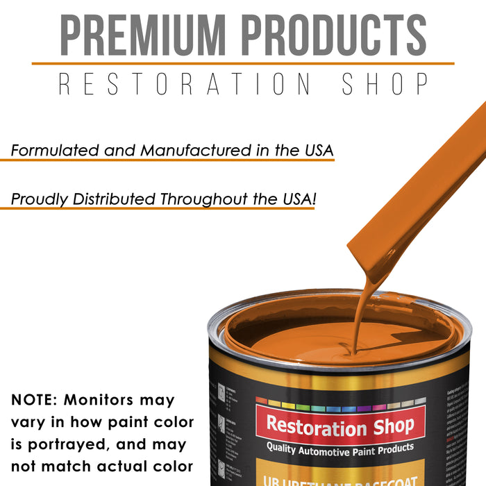 California Orange - Urethane Basecoat with Premium Clearcoat Auto Paint - Complete Medium Gallon Paint Kit - Professional High Gloss Automotive Coating