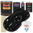 Jet Black (Gloss) - Urethane Basecoat with Clearcoat Auto Paint - Complete Medium Gallon Paint Kit - Professional High Gloss Automotive, Car, Truck Coating