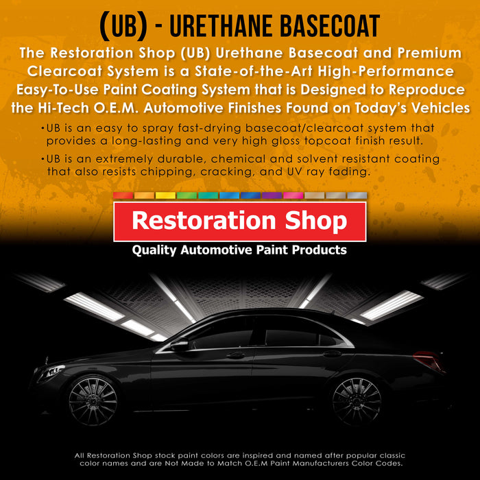 Boulevard Black - Urethane Basecoat with Premium Clearcoat Auto Paint - Complete Medium Quart Paint Kit - Professional High Gloss Automotive Coating