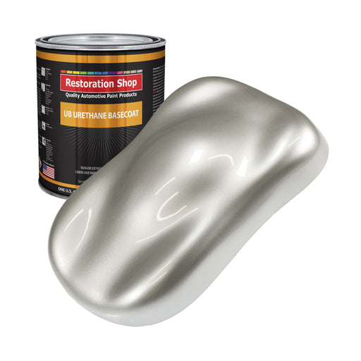 Sterling Silver Metallic - Urethane Basecoat Auto Paint - Gallon Paint Color Only - Professional High Gloss Automotive, Car, Truck Coating