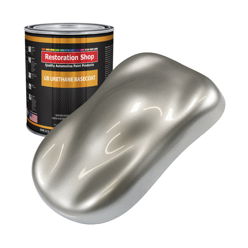 Pewter Silver Metallic - Urethane Basecoat Auto Paint - Gallon Paint Color Only - Professional High Gloss Automotive, Car, Truck Coating