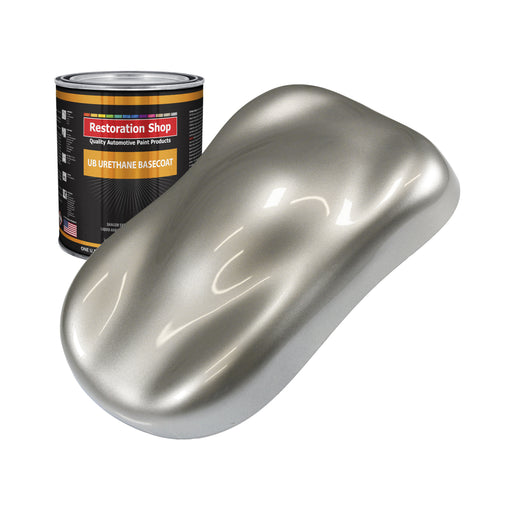 Pewter Silver Metallic - Urethane Basecoat Auto Paint - Quart Paint Color Only - Professional High Gloss Automotive, Car, Truck Coating