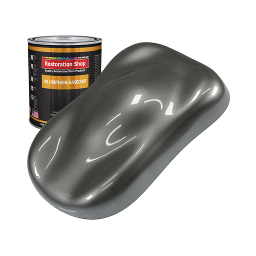 Dark Charcoal Metallic - Urethane Basecoat Auto Paint - Quart Paint Color Only - Professional High Gloss Automotive, Car, Truck Coating