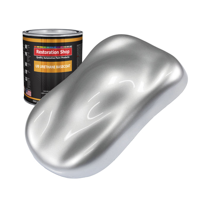 Iridium Silver Metallic - Urethane Basecoat Auto Paint - Quart Paint Color Only - Professional High Gloss Automotive, Car, Truck Coating