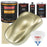 Antique Gold Metallic - Urethane Basecoat with Premium Clearcoat Auto Paint - Complete Slow Gallon Paint Kit - Professional High Gloss Automotive Coating