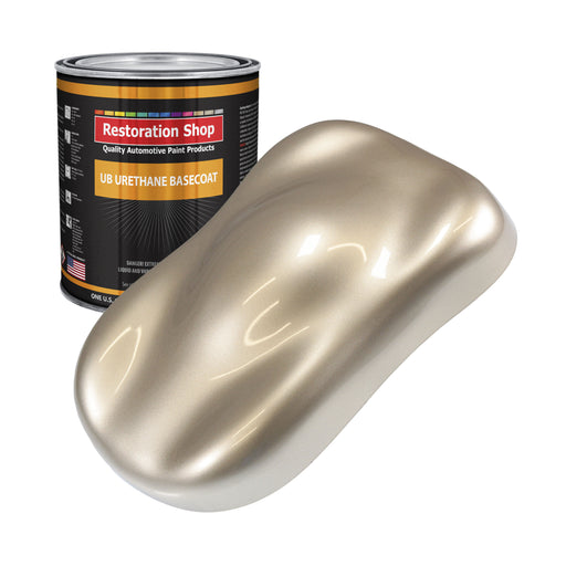 Cashmere Gold Metallic - Urethane Basecoat Auto Paint - Gallon Paint Color Only - Professional High Gloss Automotive, Car, Truck Coating
