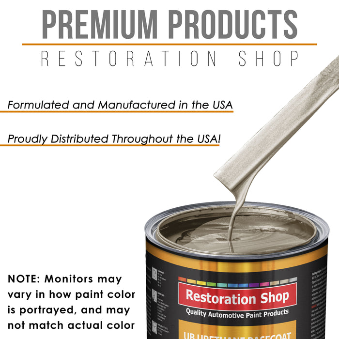 Cashmere Gold Metallic - Urethane Basecoat with Clearcoat Auto Paint - Complete Slow Gallon Paint Kit - Professional High Gloss Automotive, Car, Truck Coating