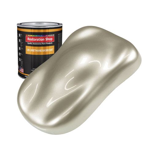 Gold Mist Metallic - Urethane Basecoat Auto Paint - Quart Paint Color Only - Professional High Gloss Automotive, Car, Truck Coating
