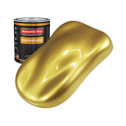 Anniversary Gold Metallic - Urethane Basecoat Auto Paint - Quart Paint Color Only - Professional High Gloss Automotive, Car, Truck Coating