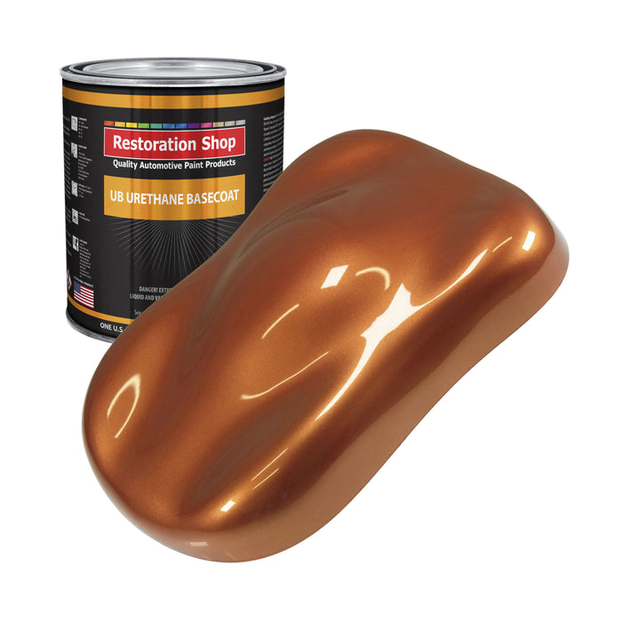 Malibu Sunset Orange Metallic - Urethane Basecoat Auto Paint - Gallon Paint Color Only - Professional High Gloss Automotive, Car, Truck Coating
