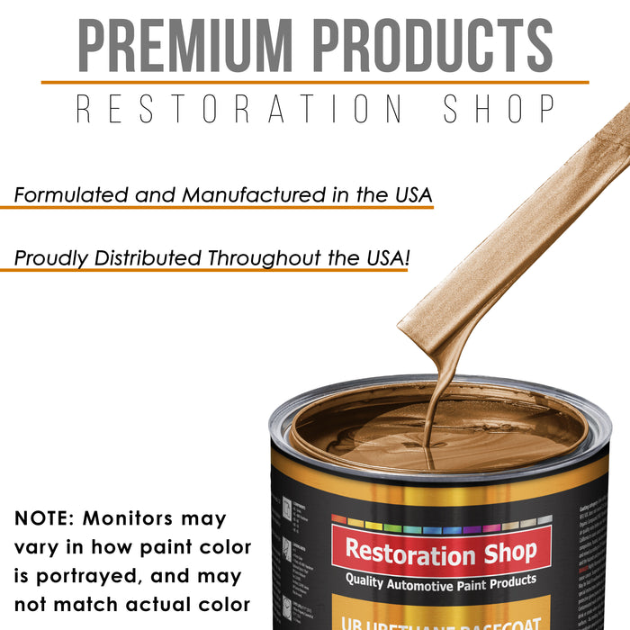 Ginger Metallic - Urethane Basecoat with Premium Clearcoat Auto Paint - Complete Medium Gallon Paint Kit - Professional High Gloss Automotive Coating