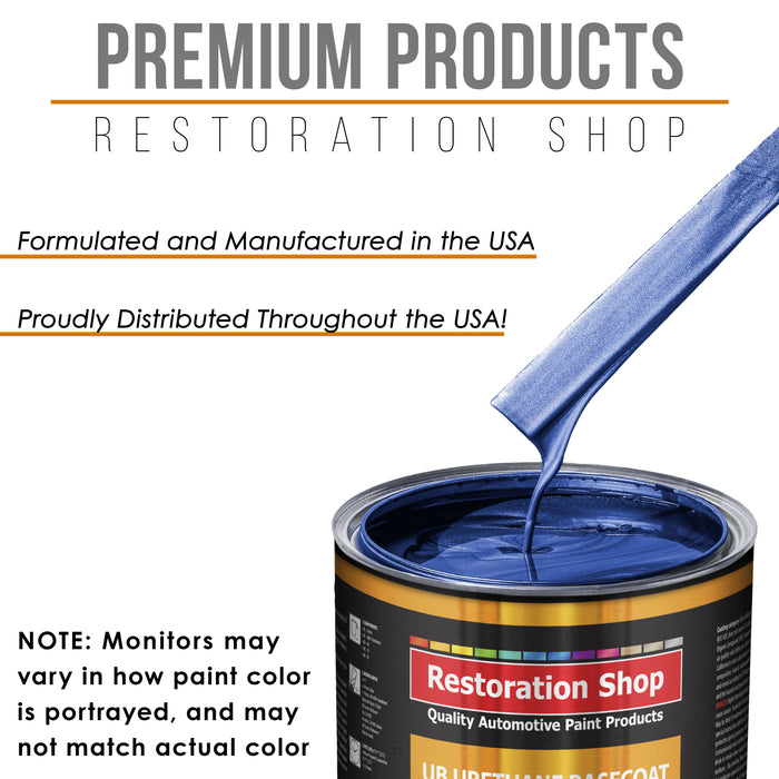 Daytona Blue Pearl - Urethane Basecoat with Clearcoat Auto Paint - Complete Fast Gallon Paint Kit - Professional High Gloss Automotive, Car, Truck Coating